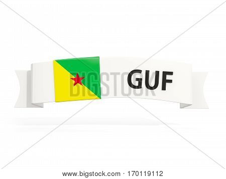 Flag Of French Guiana On Banner