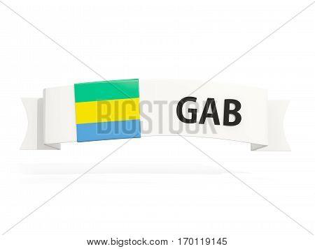 Flag Of Gabon On Banner