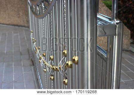 Alloy door to luxury and  strength .