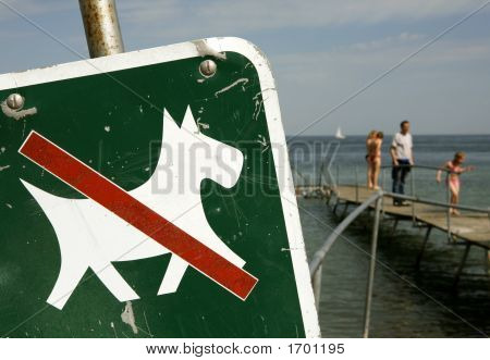 Dogs Allowed Only On A Lead ,Closeup