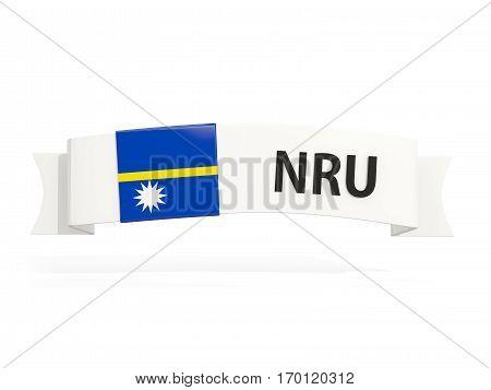 Flag Of Nauru On Banner