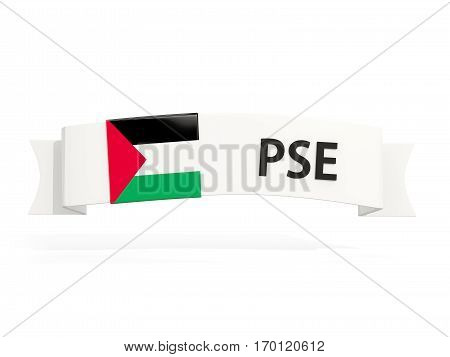 Flag Of Palestinian Territory On Banner