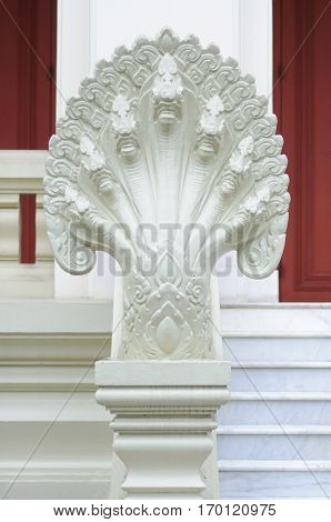 King of Nagas statue in Chulalongkorn University Bangkok Thailand