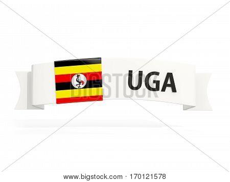 Flag Of Uganda On Banner