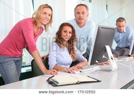 Impiegati in un corso di formazione