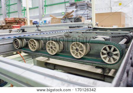 Roller Belt Conveyor belt production line of the factory