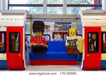 London Underground Built From Lego Bricks
