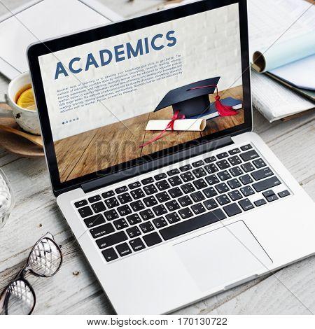 Academics School Education Mortar Board Concept