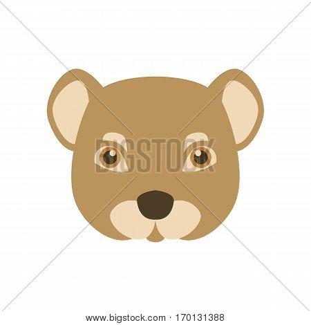 mongoose face head  vector illustration style Flat