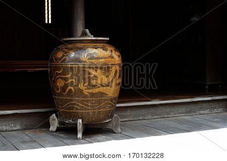 Antique Glazed Water Jar