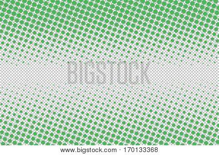 Vetornaya illustrations for the feast day of St. Partick green four-leaf clover on a transparent background halfton