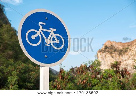 Bicycle lane sign Only bicycle permitted. transportation sign