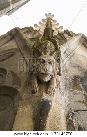 Gargoyle of the Saint Michel church spire Bordeaux France