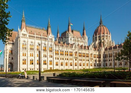 Budapest, Hungary - June 16, 2016: Hungarian Parliament Building Called