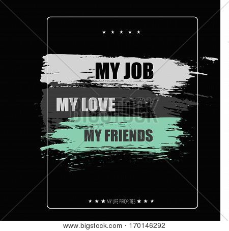 Vector illustration with positive phrase