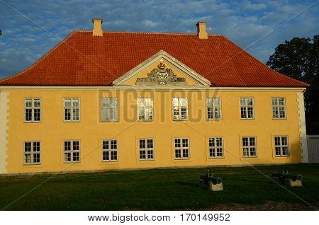 An external view of a building in the fortress complex in Copenhagen