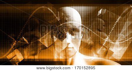 Digital Healthcare Technology System and Platform Software 3d Illustration Render