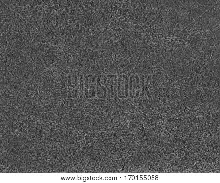 Dark grey leather texture. Background and texture.