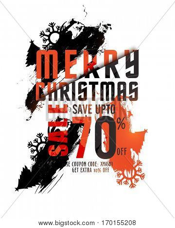 Merry Christmas Sale Poster Design.