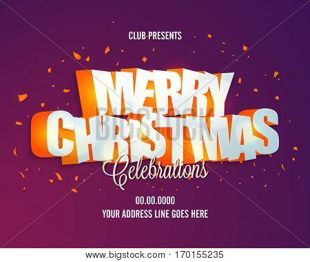 Merry Christmas Celebrations Banner Design.