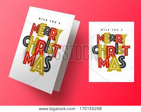Beautiful Greeting Card or Invitation Card design for Merry Christmas celebrations.