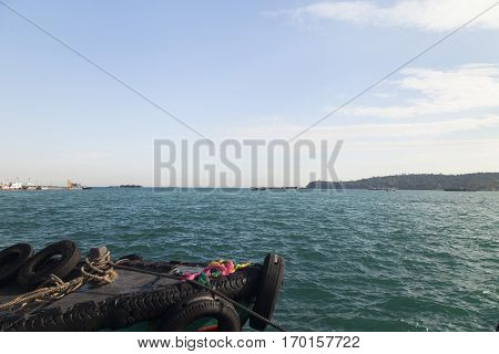 Boats at the mooring wait for an exit to the high sea