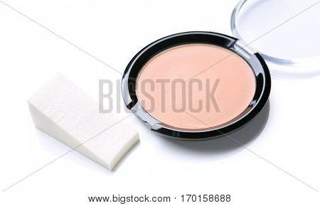 basic powder makeup isolate on white