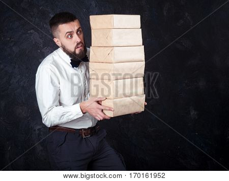 Young Funny Man With Gift Is Preparing For The Holiday 18