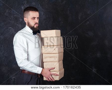 Young Funny Man With Gift Is Preparing For The Holiday 19