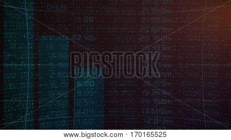 Stock market financial analysis indicator background - Creative Design Element