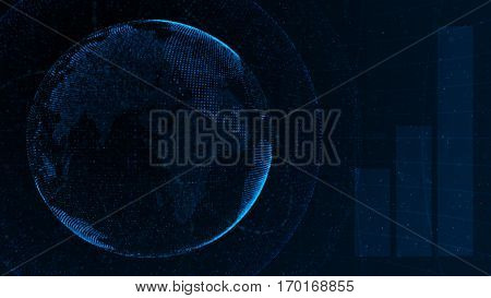 Stock market financial analysis indicator background Element