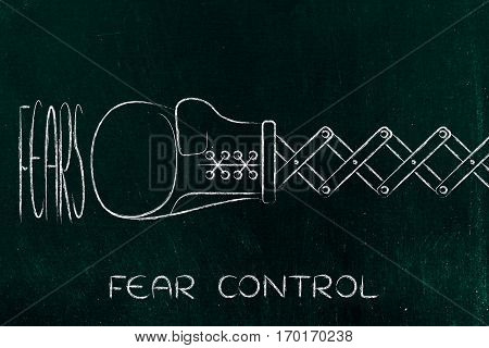 Boxing Glove Hitting The Word Fears