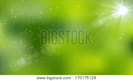 Abstract natural green organic background. 3D rendering.