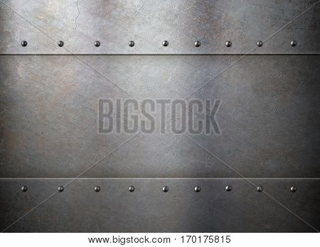 rust metal old texture or background with rivets