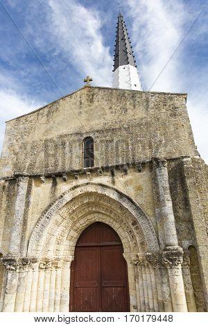 Village of Ars en Re with Saint-Etienne church Ile de Re France