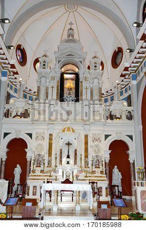 Interior Of El Cobre Church And Sanctuary