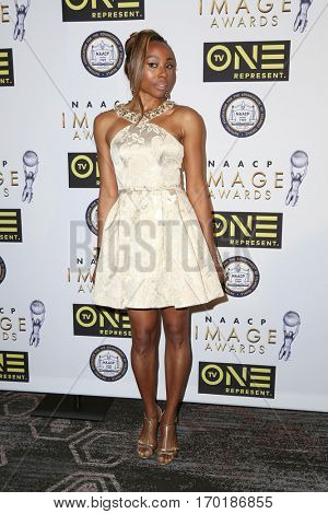 LOS ANGELES - JAN 28:  Erica Ash at the 48th NAACP Image Awards Nominees' Luncheon at Loews Hollywood Hotel on January 28, 2017 in Los Angeles, CA