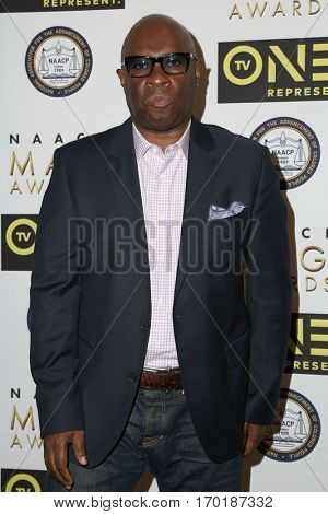 LOS ANGELES - JAN 28:  Vince Wilburn Jr at the 48th NAACP Image Awards Nominees' Luncheon at Loews Hollywood Hotel on January 28, 2017 in Los Angeles, CA
