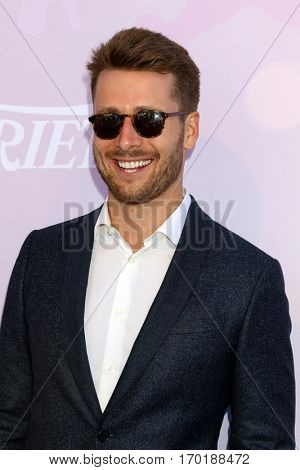 LOS ANGELES - JAN 28:  Glen Powell at the Variety's Celebratory Brunch Event For Awards Nominees at  Cecconi's on January 28, 2017 in West Hollywood, CA