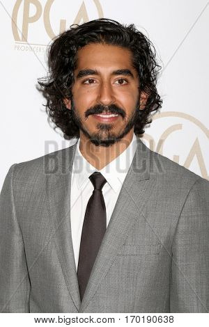 LOS ANGELES - JAN 28:  Dev Patel at the 2017 Producers Guild Awards  at Beverly Hilton Hotel on January 28, 2017 in Beverly Hills, CA