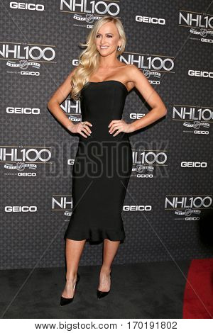 LOS ANGELES - JAN 27:  Danielle Moinet, aka Summer Rae at the NHL 100 Gala at Microsoft Theater on January 27, 2017 in Los Angeles, CA
