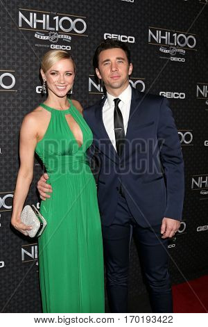 LOS ANGELES - JAN 27:  Gina Comparetto, Billy Flynn at the NHL 100 Gala at Microsoft Theater on January 27, 2017 in Los Angeles, CA