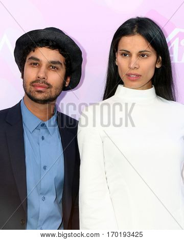 LOS ANGELES - JAN 28:  Kunal Nayyar, Neha Kapur at the Variety's Celebratory Brunch Event For Awards Nominees at  Cecconi's on January 28, 2017 in West Hollywood, CA