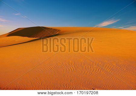 Wonderful Landscape For Vietnam Travel, Bau Trang Sand Hill