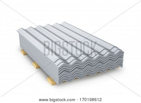 Slate. Building material roof covering. 3D illustration