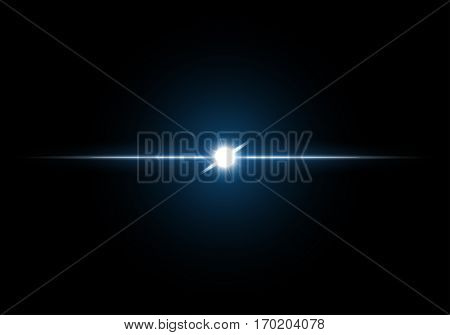 Abstract image of lighting flare . vector illustration