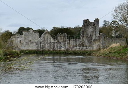 Ireland's Desmond Castle on River Maigue in Ireland.