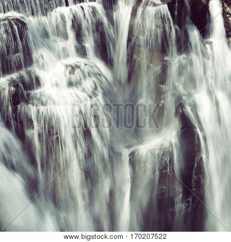 Shifen Waterfall close up, long shutter speed. Taiwan 2016
