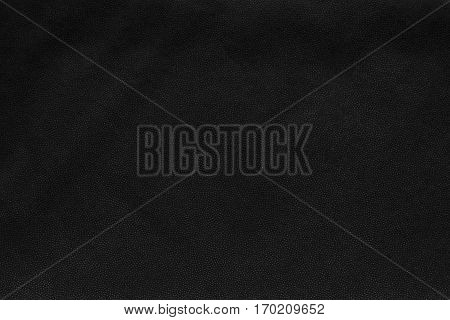 background and abstract spotty texture of textile material or fabric of black color