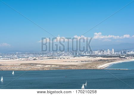 San Diego view from Point Loma, California